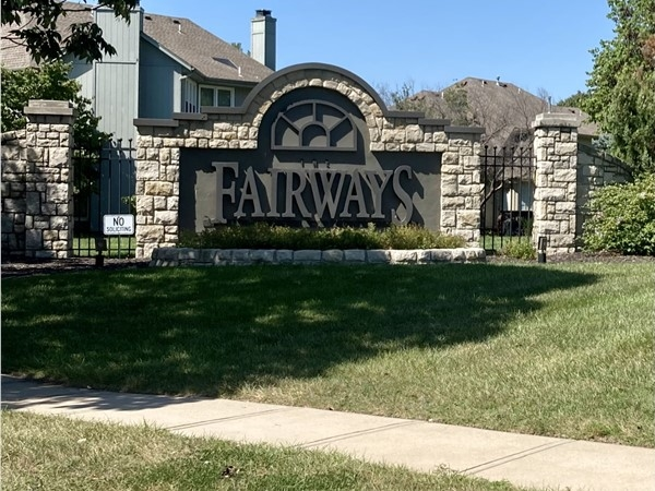 Entrance to beautiful Fairways Subdivision in the KC Northland