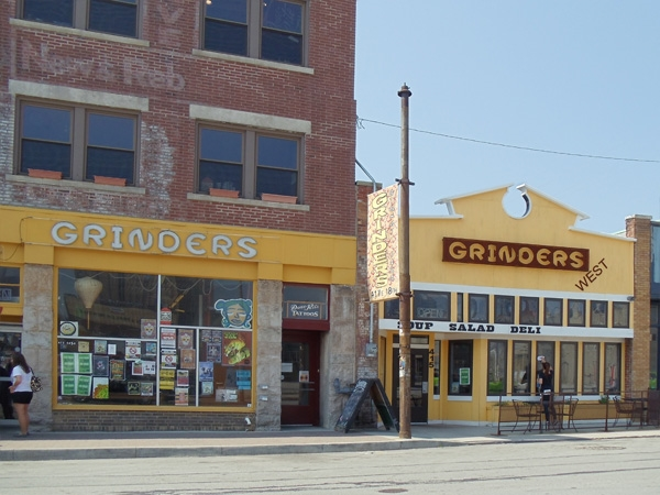 Grinders is located at 18th Street.