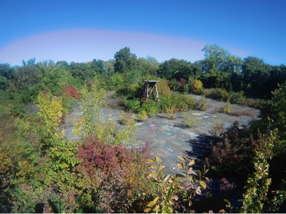 Kessler Park. Northeast reservoir. Completed 1920 and abandoned 1931