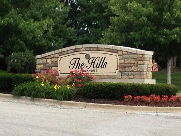 The Hills of Ironhorse Subdivision Entrance.