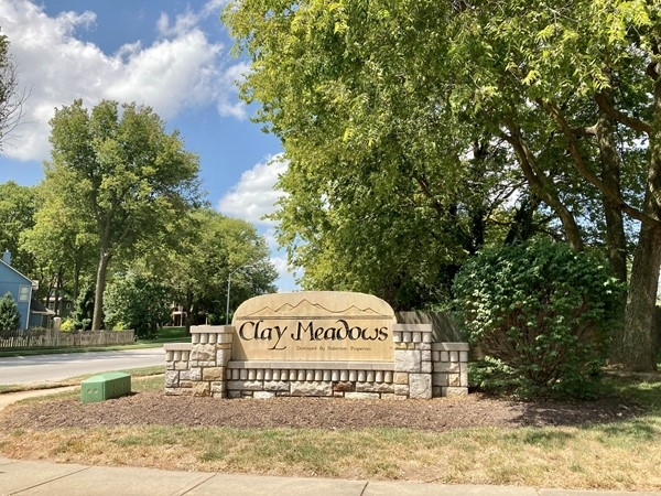 Entrance to Clay Meadows subdivision in Liberty