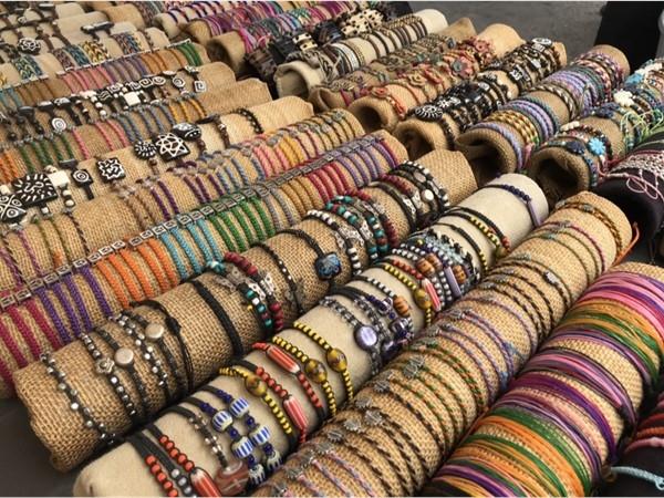 Cool, colorful bracelets at River Market