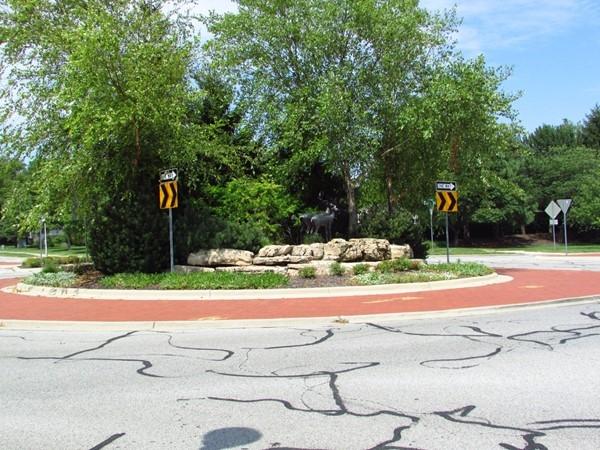 Traffic circle at 133rd and Lamar Avenue