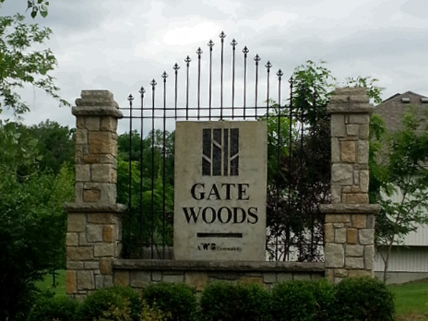 Gate Woods is just one of many new home developments in Riverside, Missouri.