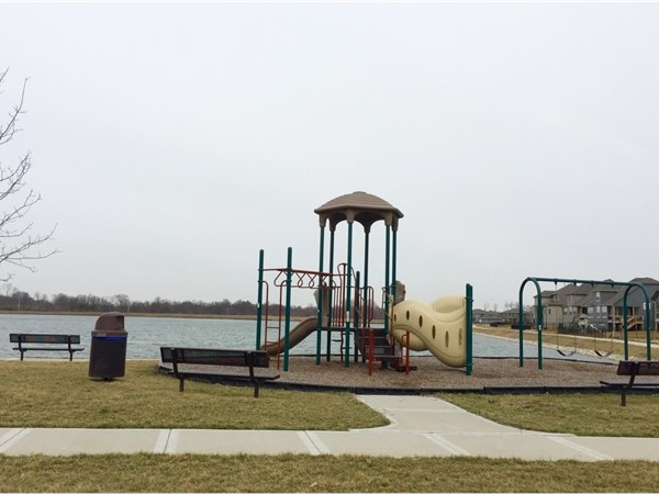 Delightful children's playground with lovely water view could be right in your backyard