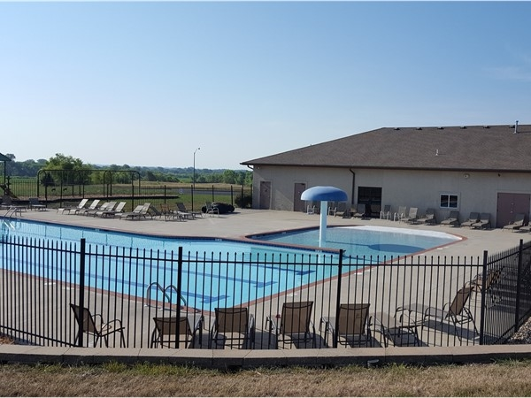 Foxberry Estates has a zero entry pool and one of the largest clubhouses in the area