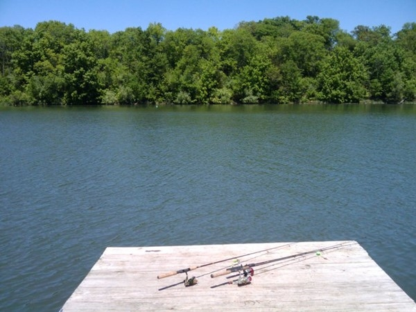 Ready to fish! Lake Jacomo is perfect to spend the day fishing