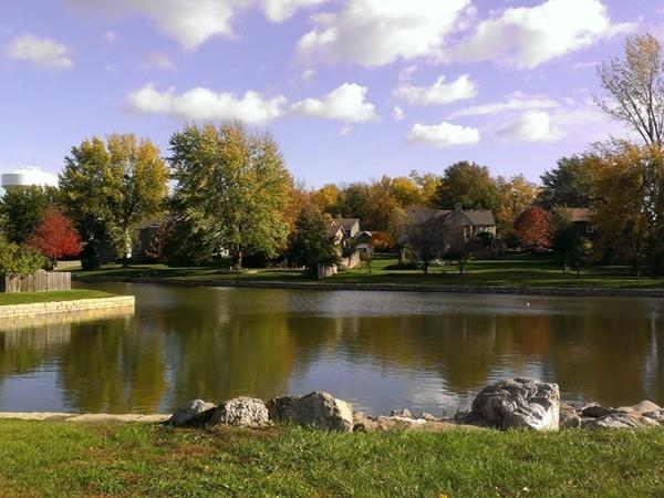 Private lake and walking trails at Pine Lake