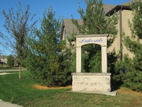 Lakeside at Chapman Farms sign