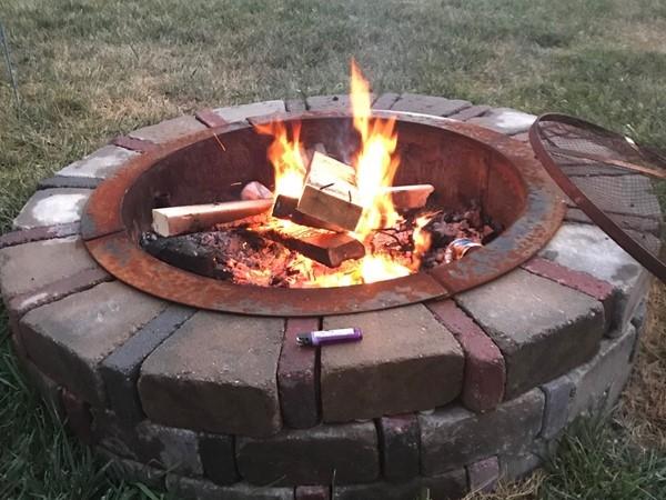 Summertime bon-fire