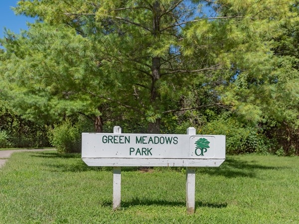 Green Meadows Park in Overland Park. Enjoy the shady paved trails