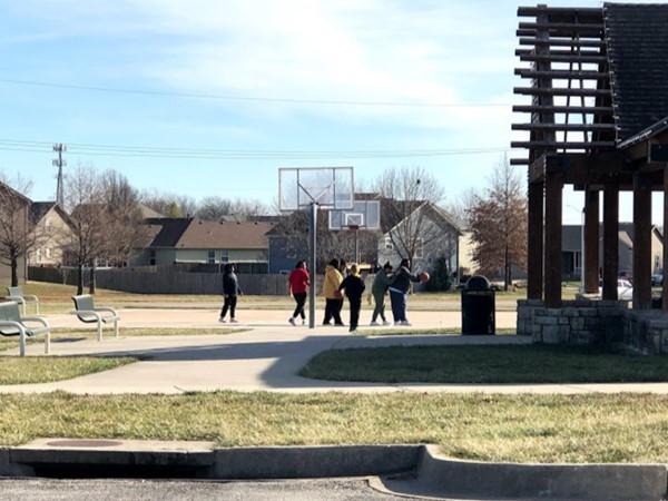 Basketball court near Plum Creek