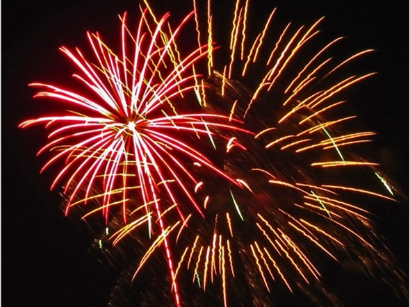 Fireworks display for Roeland Park and Fairway on July 3, 2015