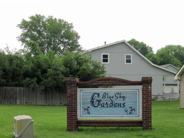 Entrance to Blue Sky Gardens Subdivision