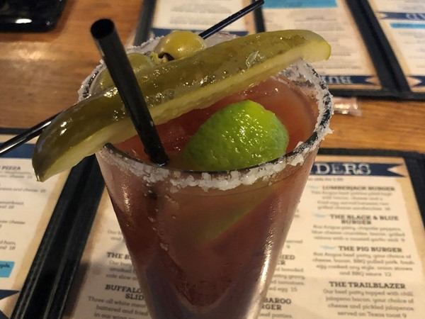 Yummy spicy Bloody Mary from The Landing Eatery & Pub - delish
