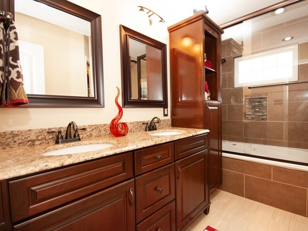 An awesome updated bathroom at Ward Park Place Subdivision
