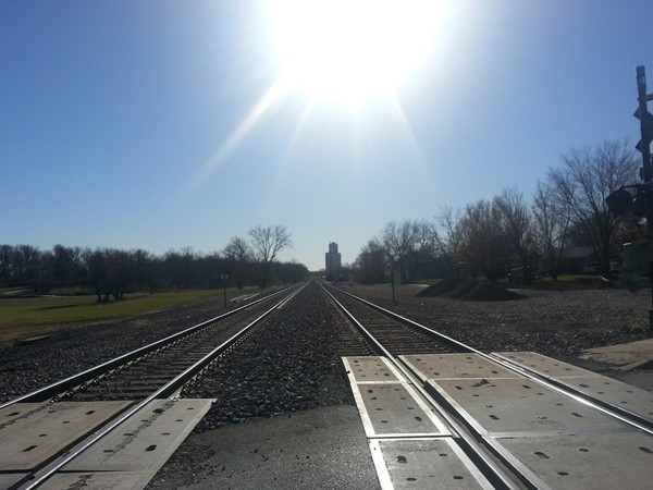 Railroad tracks in Edgerton