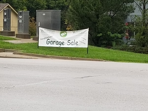 Remember Winterset Park Garage Sales on October 6 and  7