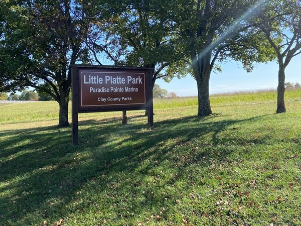 Paradise Point/Little Platte Park, a great place for dog walking and recreation fun