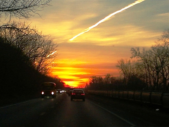 Beautiful sunrise made the commute much more enjoyable.