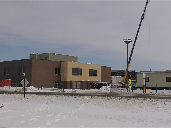 Fort Riley Middle School under construction