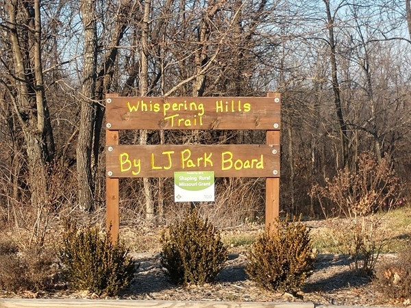 Walking trail donated by the Lone Jack Park Board showing strong community spirit