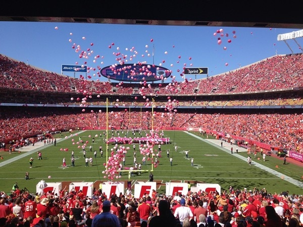 Arrowhead Stadium: Home of the Kansas City Chiefs.