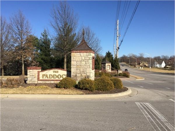Grand entrance at The Paddock Subdivision