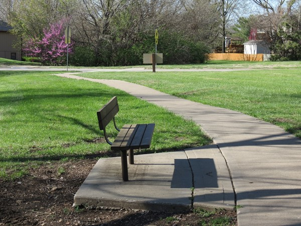 A peaceful spot to rest on the Persimmon Hill Greenway