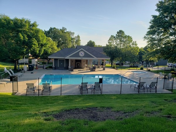 One of two pools available to North Brook communities residents - Includes 1' baby pool