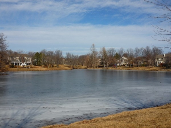 The lake in the Waterfield in Blue Springs, Missouri