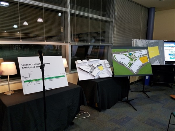 Plans for the new library at Lenexa City Center