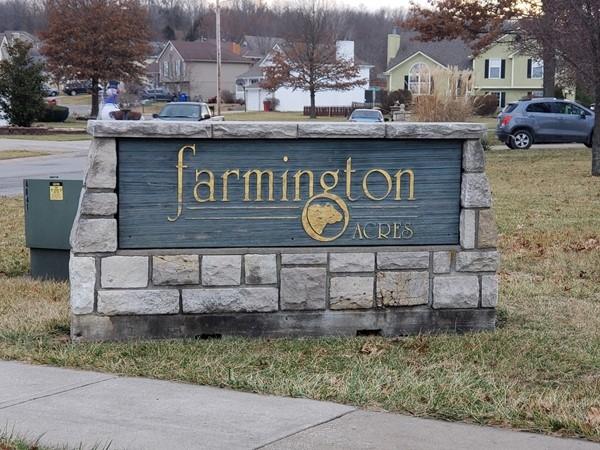Farmington Acres subdivision in Grain Valley