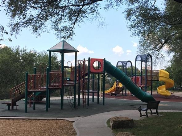 Brookside Park has a nice playground