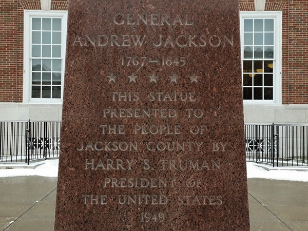 The dedication to the people of Jackson County by President Harry S. Truman