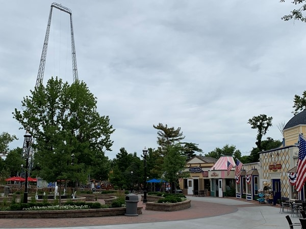 Great place to take a break from the rides at Worlds of Fun
