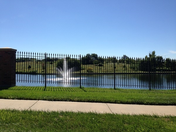 Beautiful water feature in Montclair Subdivision