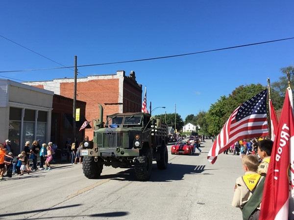 Military vehicles showed up for the Pioneer Days Parade