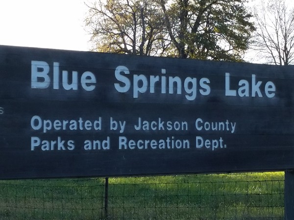 Entrance to Blue Springs Lake off of Bowlin Road