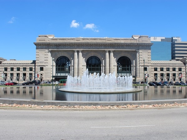A beautiful day to enjoy the fountains and amazing architecture of the Union Station building