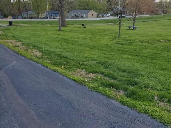 Southside of walking trail at Oak Grove Park