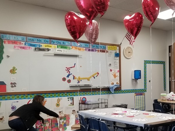 A classroom in Heartland Christian School, near Hardee Meadows, in Belton, Missouri
