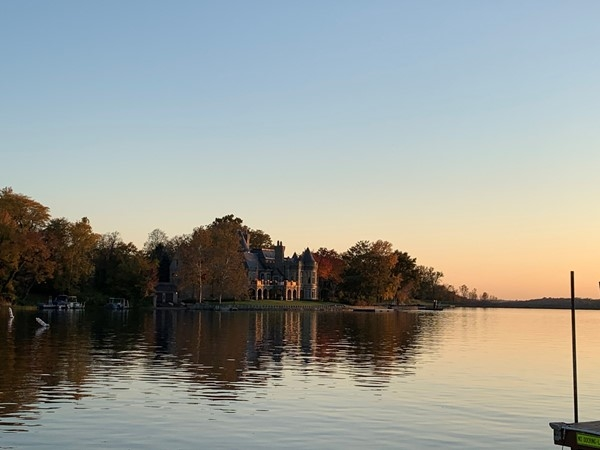 The castle house on Lake Weatherby