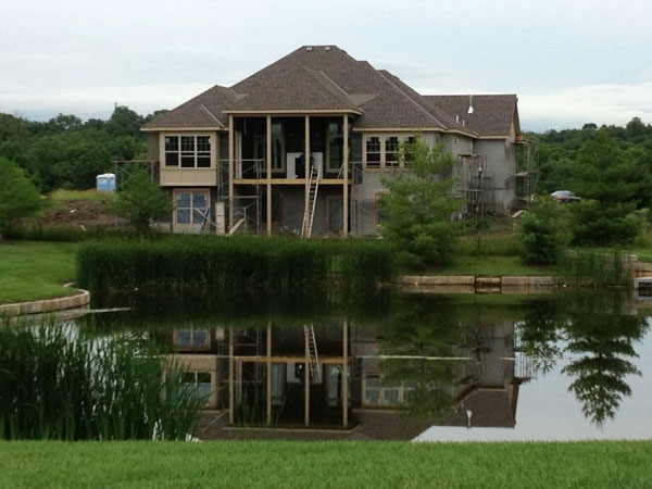 One of the beautiful homes under construction in the Tallgrass at Wilderness Valley community