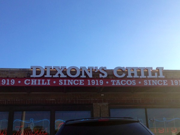 Dixon's Chili on 40 Hwy right by the Royals Stadium. Best Taco Tuesday!