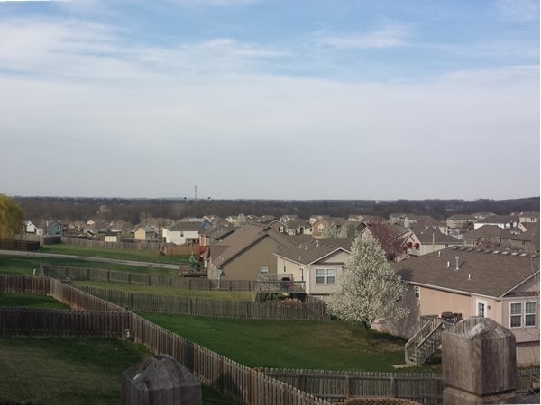 Springtime rooftop view of Grain Valley