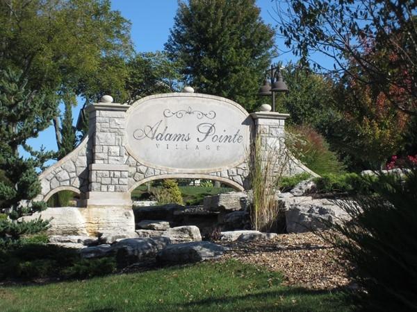 Entrance to Adams Pointe Village