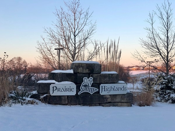 Fresh blanket of snow at Prairie Highlands
