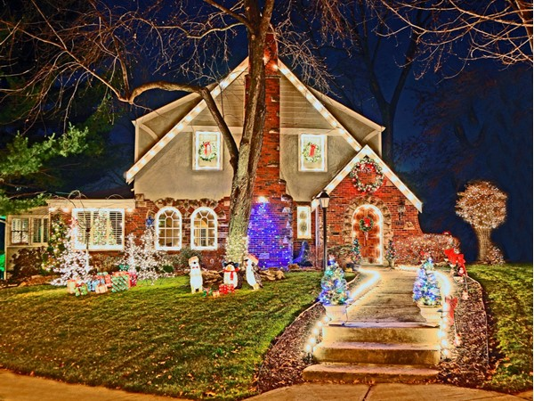 Homes in the Brookside area offer unique architecture that light up beautifully during the holidays