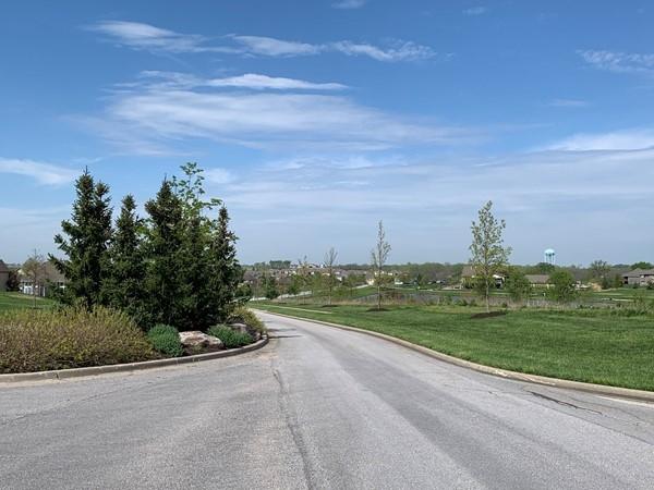 Drive into Falcon Lakes in Basehor, Kansas